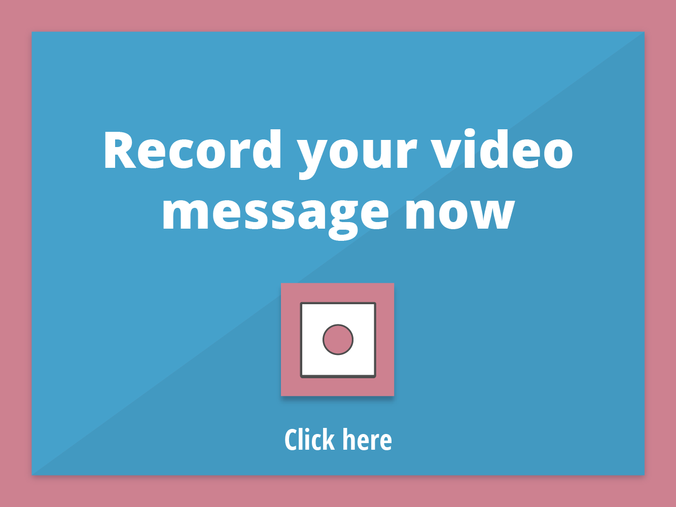 Vissenger: record a video message